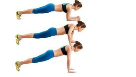 Plank to push-up buikspieroefening thuis